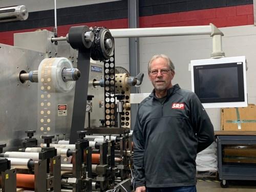 Bill Stift in front of a Delta ModTech Crusader