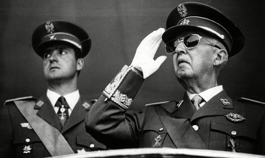Francisco Franco with Juan Carlos de Borbon