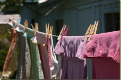 laundry line hanging clothes dry naturally