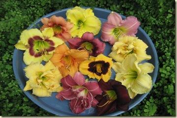 16 Platter of lilies