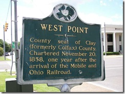 Town Sign, West Point, Mississippi (home of Brad Smith & Rogers Stevens of Blind Melon) May 2006
