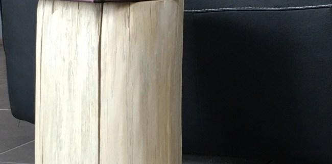 Bout de canapé en bois flotté, création artisanale Française by Deluxe Créations