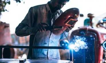 Welder With Mask