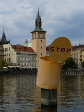 En naviguant sur la Vltava.