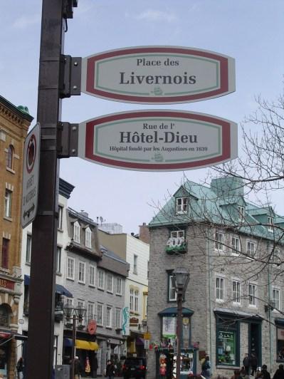 Dans le Vieux Québec.
