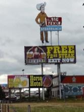 A Amarillo, le Big Texan vous propose d'avaler un steak de 2 kg. Relèverez-vous le défi ? (Nous, non).