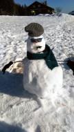 Bonhomme de neige de compétition.