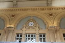 L'horloge, témoin de l'ancienne activité de la gare des Brotteaux.
