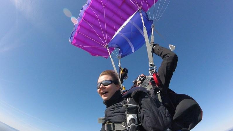 Ouf, le parachute s'est ouvert !