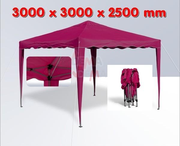 tonnelle pliante pavillon pliable 3x3 m couleur bordeaux