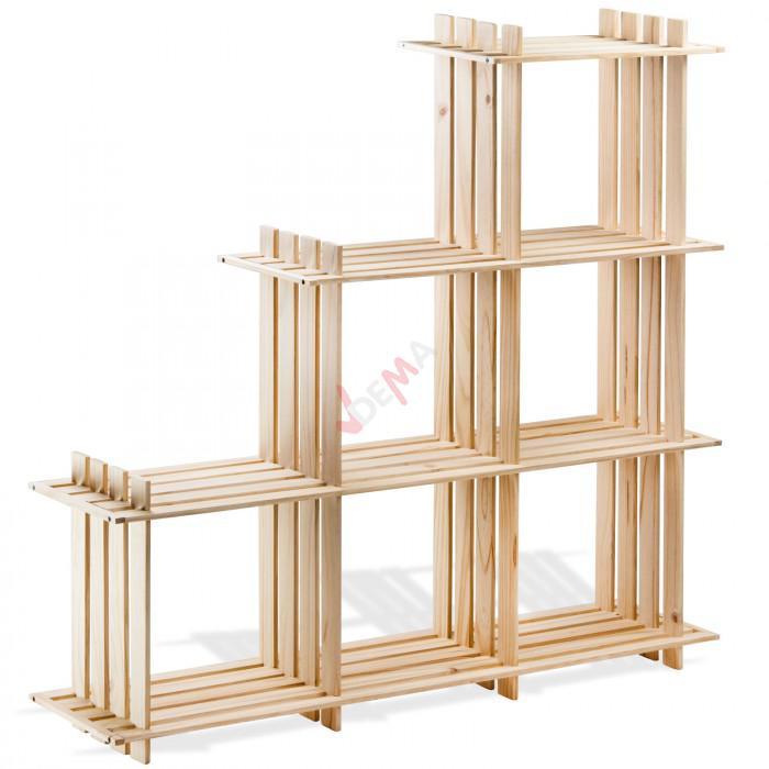 etagere en bois 6 rangements pin massif