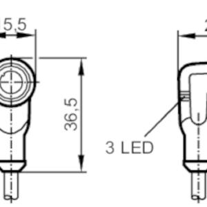 Ifm EVW008 Câble avec prise femelle