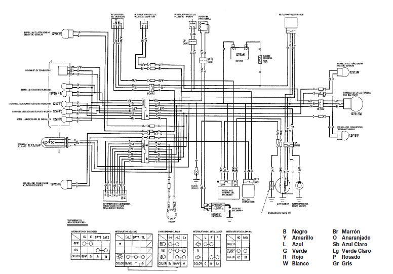 manuales de diagramas el u00e9ctricos  yamaha dt 125  honda cg 125 tit u00e1n  honda cg 125