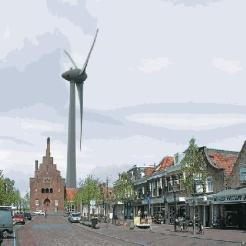 Windmolen De ambtenaar gezien vanuit Medemblik