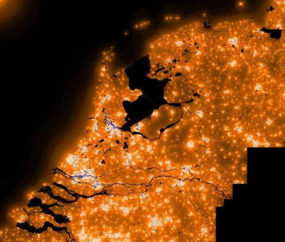 'Een beeld van Nederland bij nacht' - Foto: avex-asso.org