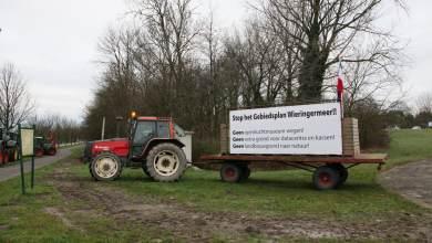 Photo of Boeren in actie tegen gebiedsplan Wieringermeer