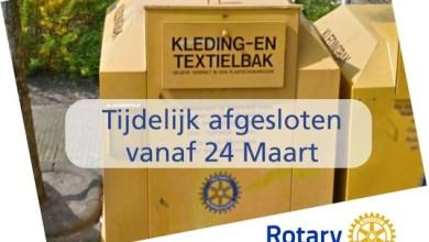 Photo of Kledingbakken Rotary Wieringerland tijdelijk dicht in verband met coronavirus