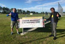Photo of CV Wieringermeer coronaproof door gift Microsoft