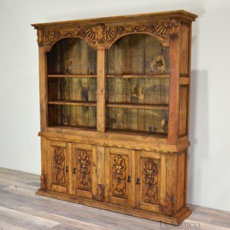 hand carved bookcase