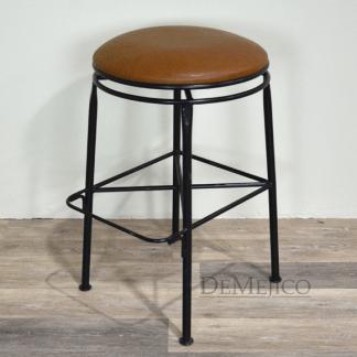 backless iron swivel counter stool