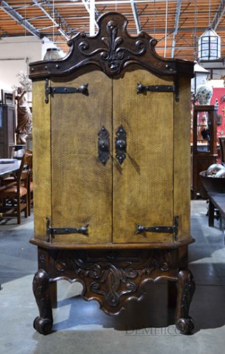 spanish carved armoire