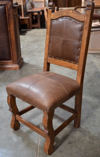 spanish leather dining chairs