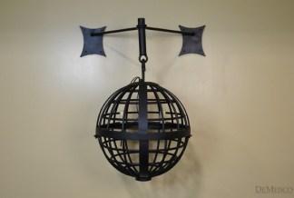 Iron sphere pendant light