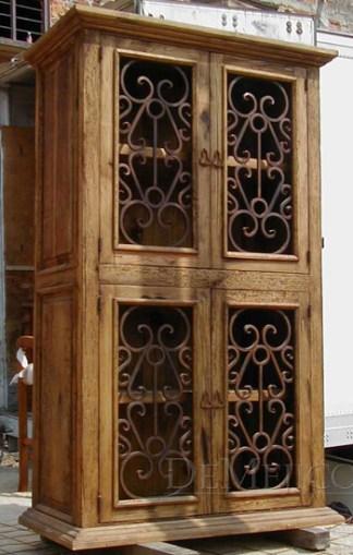 spanish iron display armoire