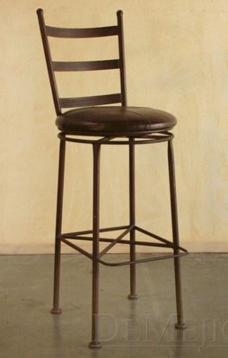 spanish iron swivel bar stool