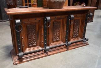 mesquite carved bar