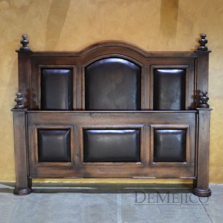 leather panel bed