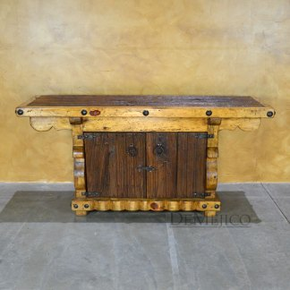 old wood entertainment center