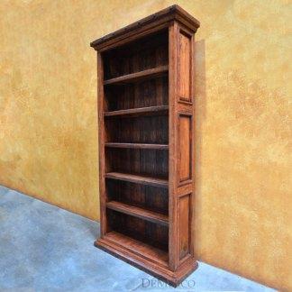Tall Alamo Bookcase, Old Wood Bookcase