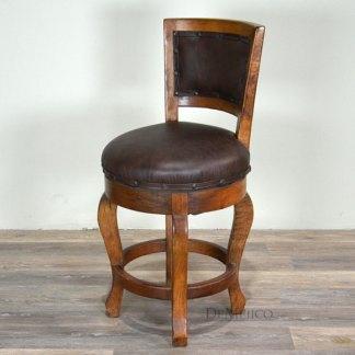 Spanish Barstool, Contemporary Stool, Vintage Leather Barstool