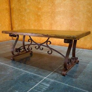 Old Wood Espanola Desk, Rustic Computer Desk, Spanish Iron Desk