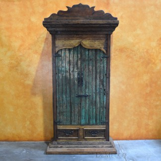 Tall India Armoire, Rustic Armoire, Tall Armoire, Antique Old Door Armoire