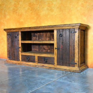 Tequila TV Console, Rustic Entertainment Center, Old World Style