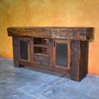 rustic wood buffet table