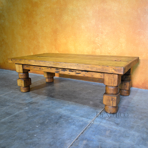 old wood torno old world coffee table