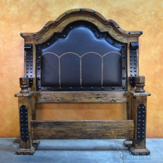 Alamo Stitched Leather Bed Especial, Leather Bed