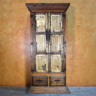 Rustic Armoire, Tall Armoire, Antique Old Door Armoire