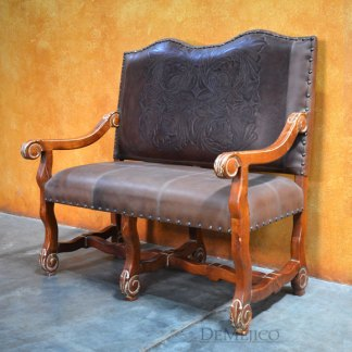 Patina Cristy Bench, Spanish Leather Bench
