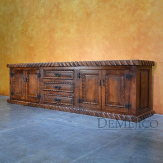 Spanish mesquite buffet table