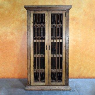 Armario Salamanca, Rustic Armoire, Iron Door Cabinet