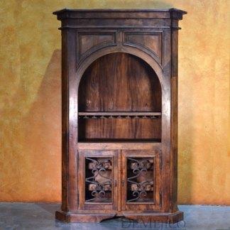 Old World Wine Cabinet, Rustic Wine Cabinet, Spanish Wine Storage Cabinet