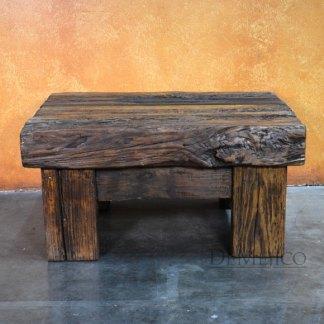 small reclaimed door coffee table