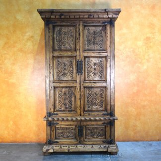 Luis Quince Armoire, Spanish Carved Armoire, Spanish Armoire