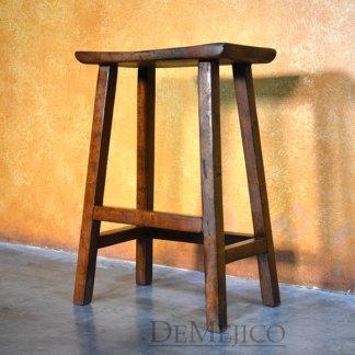 Saddle Seat Barstool, Spanish Backless Barstool