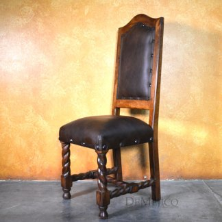 Silla Casa Torcida, Spanish Leather Chair, Leather Dining Chair