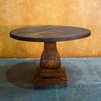 Rustic Gitana Table, Old Wood Round Dining Table